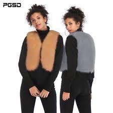 2019 <b>PGSD Simple</b> Fashion Pure Colored Women Clothes Faux Fur ...