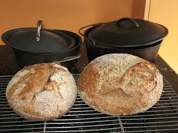 penni wisner no knead b and whole grain variations one pound and 2 pound loaves and their baking pots
