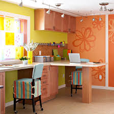 color cues bright basement work space decorating