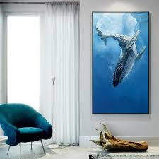 <b>Nordic</b> Whale <b>Minimalist Poster</b> – Wildlife Collections