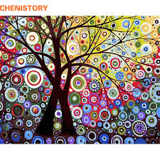 CHENISTORY <b>Abstract</b> Paint Landscape <b>DIY</b> Painting By <b>Numbers</b> ...