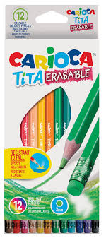 Купить Упаковка <b>карандашей цветных CARIOCA Tita</b> Erasable ...