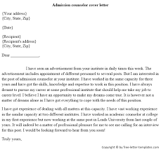 Admissions Counselor Cover Letter Examples   free basic cover letter examples happytom co