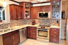 kitchen attractive cream granite kitchen countertop design idea with dark brown kitchen cabinet brown white backsplash appealing pendant lights kitchen