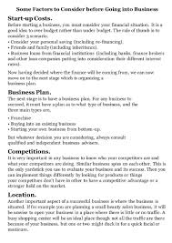 some factors to consider before going into business