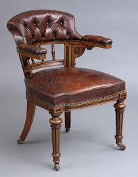 english antique victorian oak leather desk chair by marsh jones cribb circa antique leather office chair