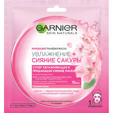 <b>Тканевая маска</b> Garnier «Увлажнение + <b>Сияние</b> Сакуры», супер ...
