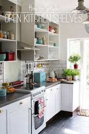 Kitchen Open Shelves Cabinet Kitchen Cabinet With Open Shelves