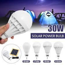 Solar Panel <b>LED Light Bulb 5W 7W</b> 9W 15W 30W Indoor Outdoor ...