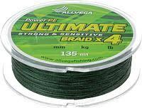 "Шнур плетёный <b>ALLVEGA</b> ""<b>Ultimate</b>"" 135м тёмно-зелёный 0,22мм ..."