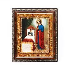 <b>изображение</b> богоматерь целительница <b>янтарь</b> 16х14 см ...