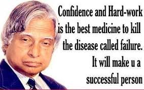 EQ- Best Quote by Abdul Kalam: confidence and hard work is the ... via Relatably.com