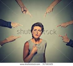 Image result for many finger pointing at child crying