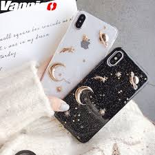 <b>Luxury Space Moon Glitter</b> case for iphone XS MAX XR 7 8 plus ...