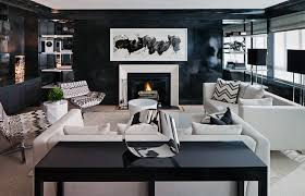 l inspiring black themed living room design with cool wall art decor over fireplace and modern living room furniture set 1120x719 awesome living room design