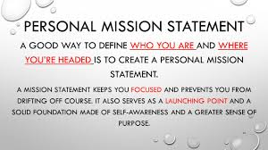 write about a time when you succeeded at something because you 26 personal mission statement