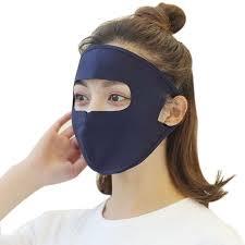 Boyijia Women <b>Ice Silk</b> Face Mask UV <b>Protection</b> Outdoor Riding ...