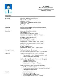 resume template high school student no experience resume recent gallery of sample resume for a highschool student no experience