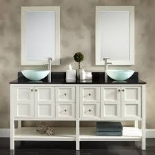 f brilliant bathroom vanities ideas pictures with double vessel bowl on black gloss marble top and white stained wood storage 1500x1500 brilliant bathroom vanity mirrors decoration black wall