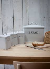 Garden Trading Kitchen Bin Bread Bin And Canister Set In Chalk By Garden Trading