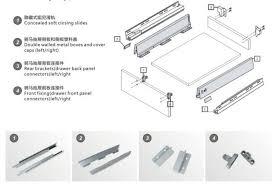 soft close drawers box: soft closing tandem box drawer slide includes