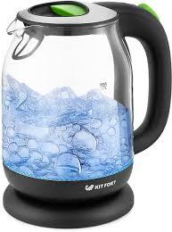 Купить <b>электрический чайник Kitfort</b> КТ-<b>654</b>-<b>2</b>, Пластик/стекло ...