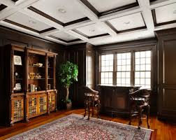 view in gallery exquisite wood trim ceiling to match the beautiful hardwood floors in this traditional home office beautiful home office design ideas traditional