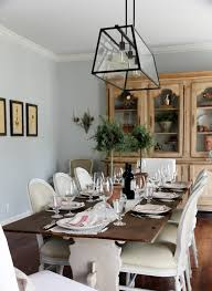 farm house table dining room lighting ideas teebeard farmhouse style and chairs with white armless chandelier style dining room lighting