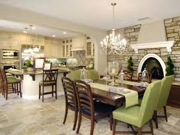 Chandelier Dining Room Photo Courtesy Of Interior Lifestyles Designlens Stone Wall Dining