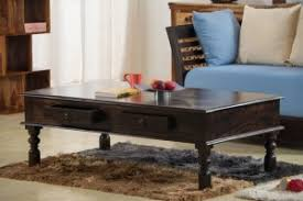 solid wood jaipur 2 drawer coffee table buy zina solidwood side table