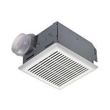 sensing bathroom fan quiet: shop nutone  sone  cfm polymeric white bathroom fan at