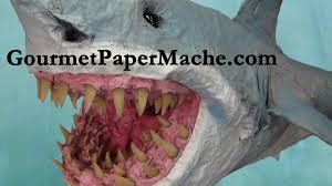 paper mache great bite shark