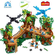 686pcs Village Figures Forest <b>Building</b> Blocks can use Lego ...