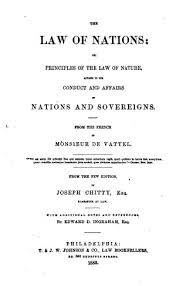the law of nations  or  principles of the law of nature  applied    title page