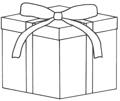christmas present outline clipart clipart kid pictures of christmas presents to colour imagebasket net