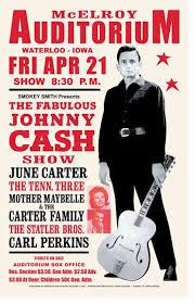 krnt theatre 1966 concert poster The <b>Fabulous Johnny Cash</b> show ...
