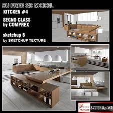 Kitchen Design Freeware Sketchup Texture Free Sketchup 3d Model Kitchen Design