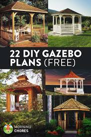 22 diy gazebo plans ideas to build step by step tutorials it was the mid 90 s when we lived in a beautiful gray brick home on a two acres of bare land the yard was green and lush my mother was dreaming