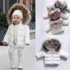 Kids Baby Toddler Boy Girl Warm Faux Fur Hooded Winter ... - Vova