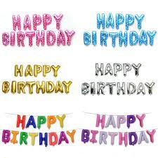 Online Shop <b>13PCS Happy Birthday Balloons</b> Alphabet Letters ...