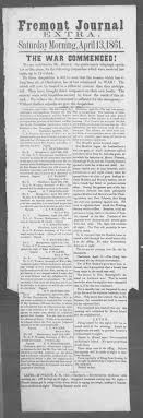 diving into newspaper archives chronicling america europeana fort sumter in pennsylvanian newspaper from 1861