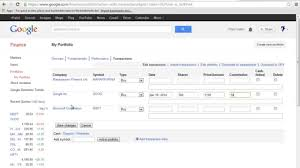 how to create portfolio in google finance how to create portfolio in google finance