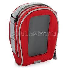 <b>Сумка</b> с чехлом для смартфона BiKASE SALamander <b>RED</b>, красная
