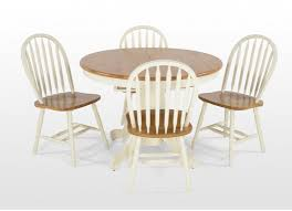 expandable dining table ka ta: cream round extendable dining table and four chairs winchester ez living