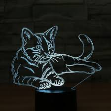 Generic <b>Cat 3d</b> Light Colorful Led <b>Vision</b> Light Gift Atmosphere ...