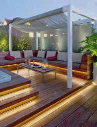 under deck lighting deck with corner bench bench lighting