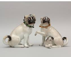 Pair of <b>Pug Dogs</b> from the Royal Palace at Warsaw - Meissen ...