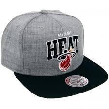 Кепка <b>Mitchell & Ness Miami Heat</b> Snapback Black USA Sb <b>NBA</b>