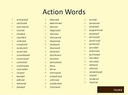 resume  resume descriptive words action adjectives  action words    some action words technical terms from achieved or in the action verbs or cv resume action