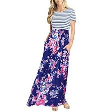 LOPILY <b>2019</b> Cocktail Dress Women's <b>Striped Short</b> Sleeve Floral ...
